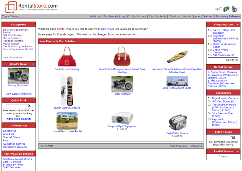 Home Shopping Sites Part - 43: Home Page · Product Information Page